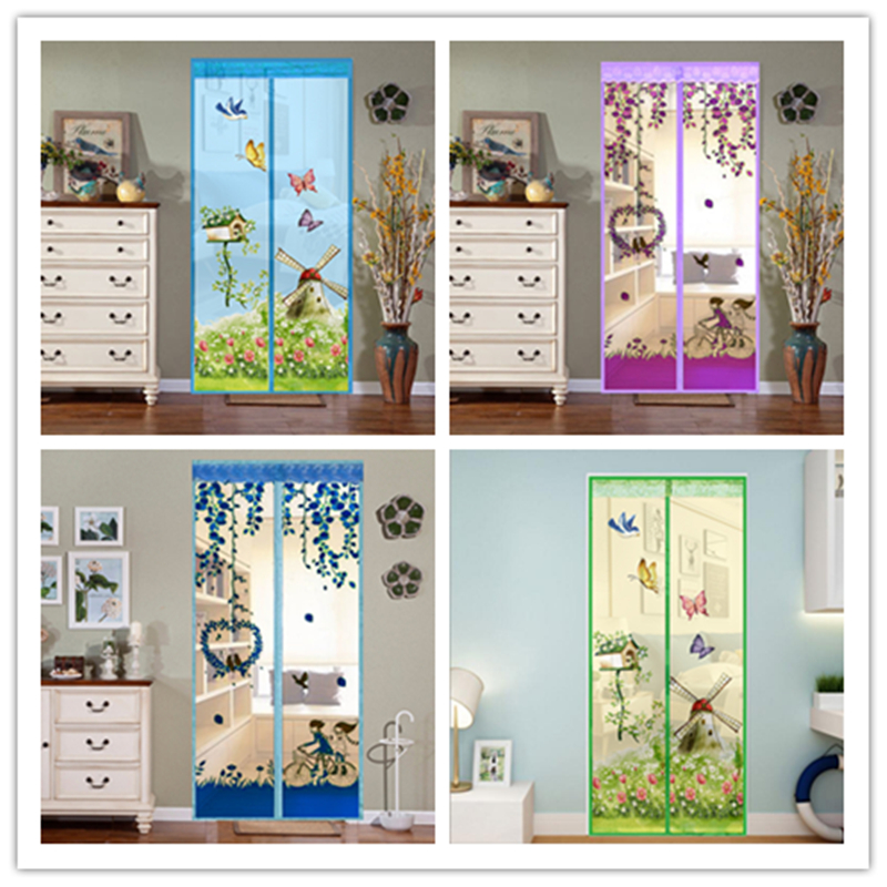 2020 Summer New Mesh Door Curtain Magnetic Fly Bug Anti Insect Mosquito Encrypt Screen Protector