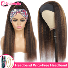 Parrucche per capelli dritte crespi per donne nere parrucca in evidenza marrone e bionda capelli umani 150 densità capelli brasiliani Remy olaf elle