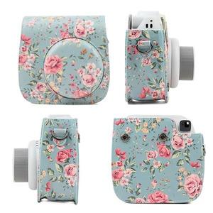 Image 3 - Besegad PU Leder Kamera Fall Halter Tasche mit Schulter Gurt für Fujifilm Instax Mini 8 8 + 9 Instant Kamera tasche Zubehör