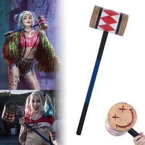 Image 1 - Disfraz de los pájaros de la presa, Harley Quinn, mazo, cara sonriente, Suicide Squad, murciélago, accesorios de Halloween