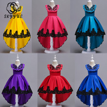Skyyue Flower Girl Dress for Wedding O-neck Ruffles Crystal Tulle Tank Ball Gown Kid Party Communion Dress Princess 2019 728 skyyue girl princess dress appliquie flower tulle flower girl dresses for wedding o neck crystal communion gowns 2019 5002