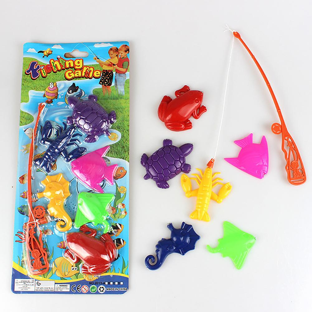 Funny Children Magnetic Fishing Tool Set Kid Parent-Child Interaction Puzzle Toy Fish Square Hot Gift