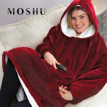 Moshu Fluffy Blanket Hoodie