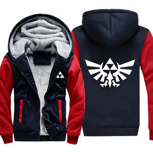 Coat Sweatshirt Jacket Hooded Thickening Logo Velvet Plus Around-Link Legend Game-Zelda