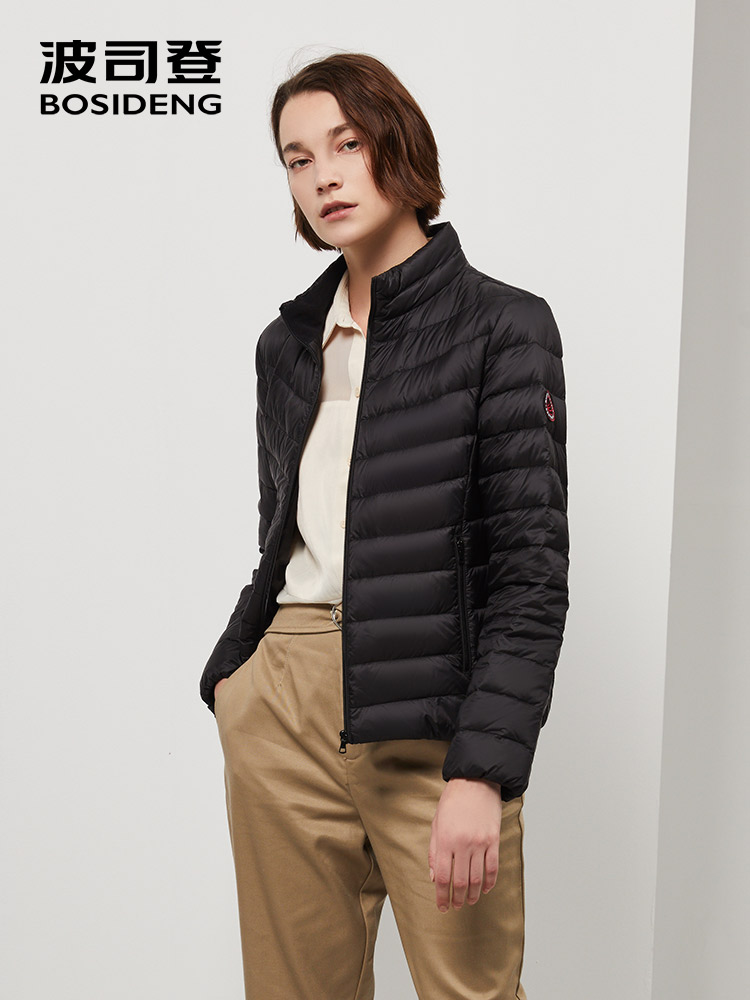 BOSIDENG 2019 New Collection Early Winter Women Down Coat Ultra Light Down Jacket Waterproof Basic Top Warm B90131010B