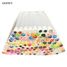 Disposable Mascara Brushes Diamond Eyelash Spoolies Makeup Brush Mascara Wand in Sanitary Tube Lash Supplies