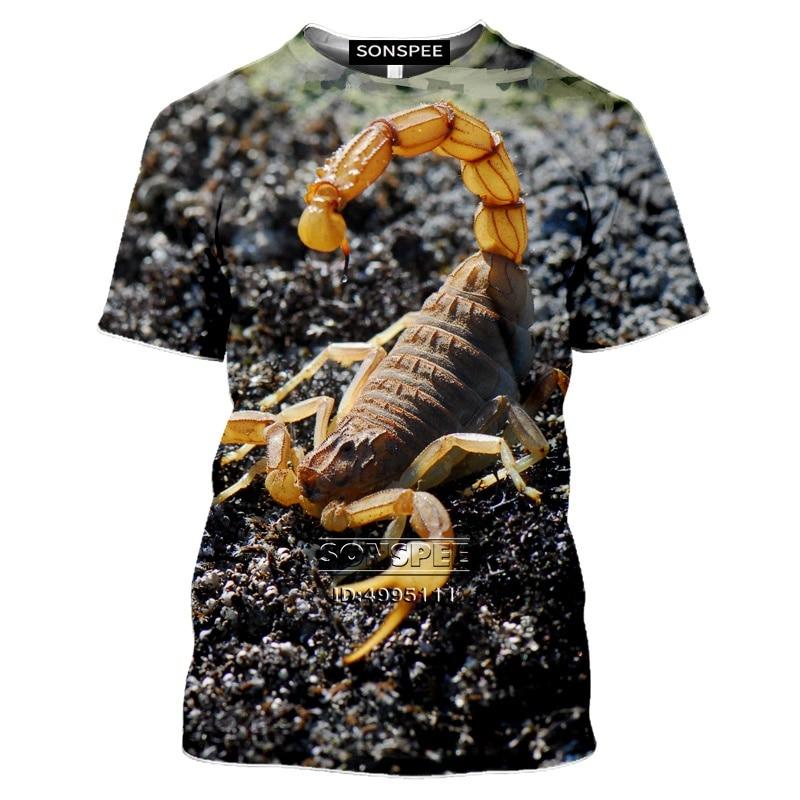 New Animals Desert Scorpion T Shirt Men 3D Print T-Shirts Women Tshirt Casual Short Sleeve Oversized Clothes Hip Hop Tee Shirts