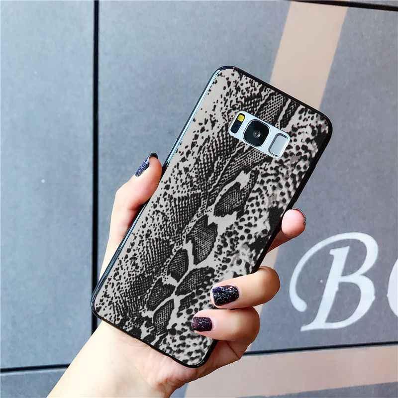 Maiyaca נחש עור טלפון מקרה לסמסונג גלקסי S10 בתוספת S10E S6 S7 S8 S9 בתוספת S10lite