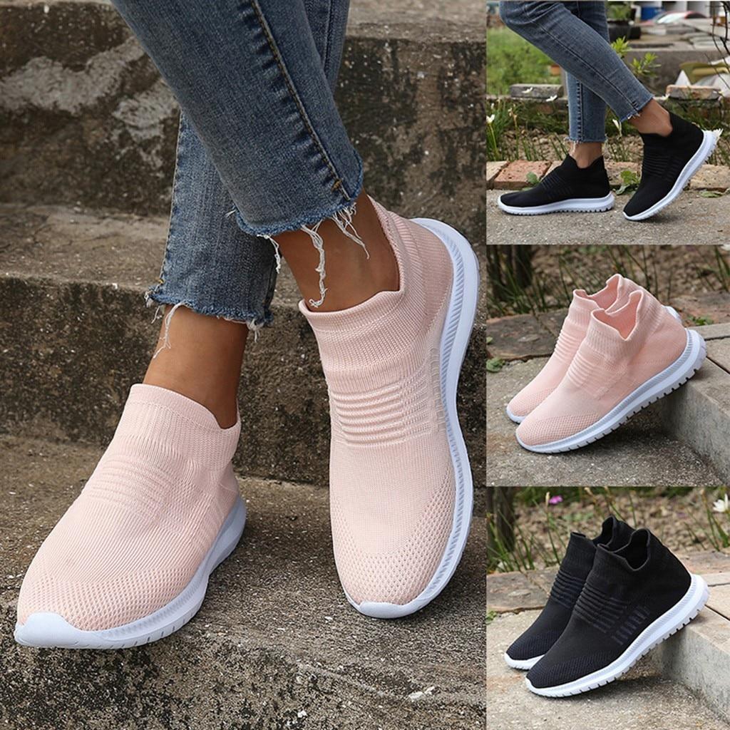 Летние кроссовки; Женские кроссовки; Вулканизированная обувь; Сетчатые носки; Кроссовки; Женская повседневная обувь; Tenis Feminino Zapatillas Mujer|Кроссовки и кеды|   | АлиЭкспресс
