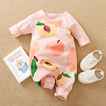 Baby Boy Romper Jumpsuit 100% Organic Cotton New Born Girl Clothes Fall Newborn Ramper Boutique Fruit Costume One Piece Clothing image