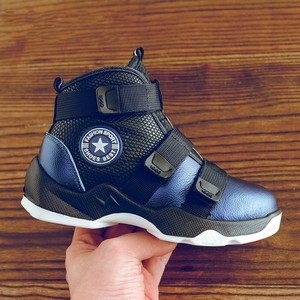 Image 5 - Autumn Winter Kids Boots Boys Shoes Genuine Leather Fashion Ankle Snow Boots Plush Warm Sneakers Waterproof Children Martin Boot