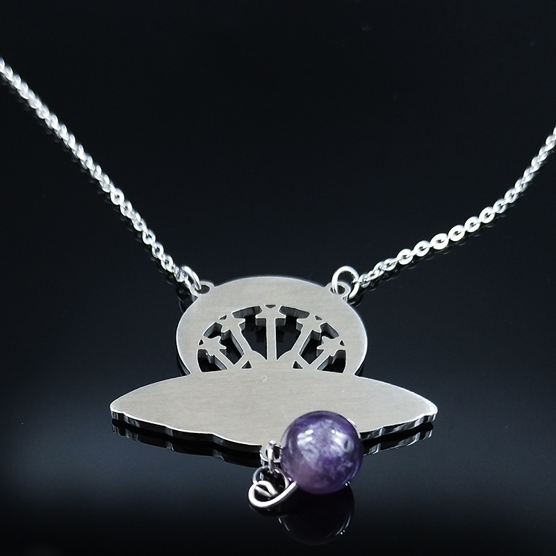Labradorite Necklace Sun Moon Necklace Statement Necklace Choker Necklace Witch Necklace Crystal Pendant