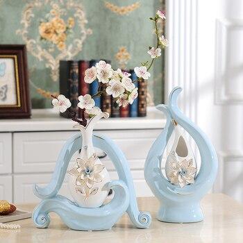 Modern minimalist ceramic vase Hand carved hollow large flower vases tabletop Flower arrangement Art crafts home decoration