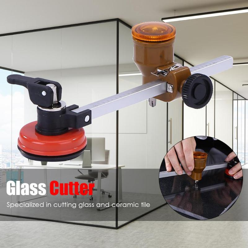 Diamond Glass Cutter Sharp Wheel Blade Glass Cutting Tool Wheels Compasses Suction Glass Circle Cutter  Hole Opener