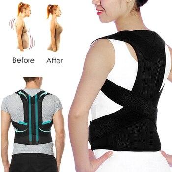 Adjustable Posture Corrector Back Brace Lumbar Support Shoulder Posture Correction Spine Back Belt for Hump Postural Corrector magnetic therapy posture corrector brace shoulder back support belt for braces