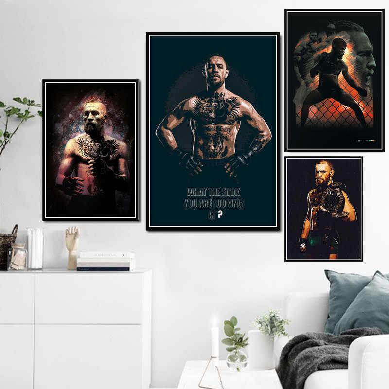 Poster E Stampe Conor McGregor Guantoni Da Boxe Boxer Sport Super Star Pittura Arte della Tela di Canapa Immagini A Parete Per Soggiorno Complementi Arredo Casa