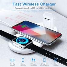 Беспроводное быстрое зарядное устройство 3в1 Qi держатель для iWatch 5 для iPhone 11/pro/Max браслет ремешок фитнес-трекер Быстрый# E20