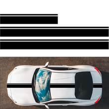 Calcomanía Universal para coche de carreras, pegatina de rayas laterales, pegatina corporal modificada, cubierta de máquina, calcomanía de rayas para Decoración