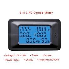 20a/100a ac lcd digital painel de energia medidor watt monitor tensão kwh voltímetro amperímetro testador ferramentas