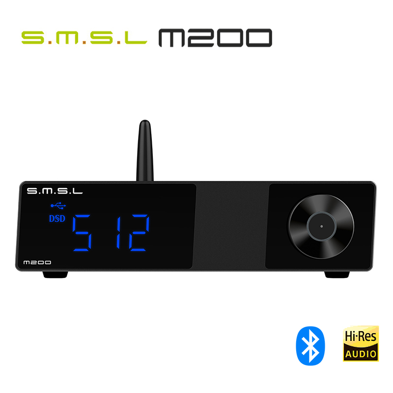 SMSL M200 AK4497EQ DAC Bluetooth 5.0 Support 32Bit/768KHz DSD512 Decoder With Remote Control