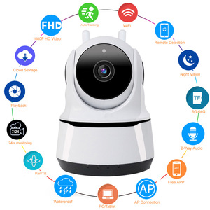 HD 1080P Smart Home Wifi Camera Indoor IP Security Surveillance Motion Detection Night Vision for Baby / Nanny / Pet Wi-Fi Cam