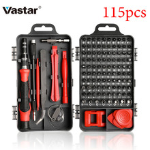 Vastar 110/115 en 1 tournevis de précision Mini tournevis électrique pour Iphone Huawei tablette Ipad ensemble doutils maison