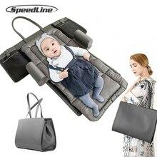 Speedline Baby Travel Mummy bag Portable Crib Child Supplies with Handbag Bed Newborn Multi-function Folding