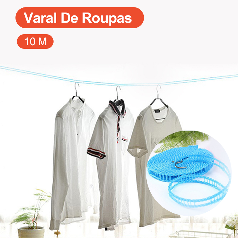 10 M Fence Type Clothesline Non-Slip Clothesline Windproof Clothesline Clothesline Quilt Airing Rope Outdoor Travel Household