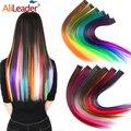 Alileader заколка для наращивания волос, 57 цветов, Омбре, прямые волосы для наращивания, заколки для волос, высокотемпературные детали для волос ...