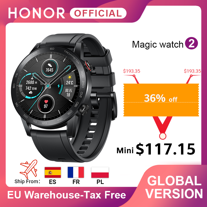 In Stock Global Version Honor Magic Watch 2 Smart Watch Bluetooth 5.1 Smartwatch 14 Days Waterproof Sports Watch For Android IOS