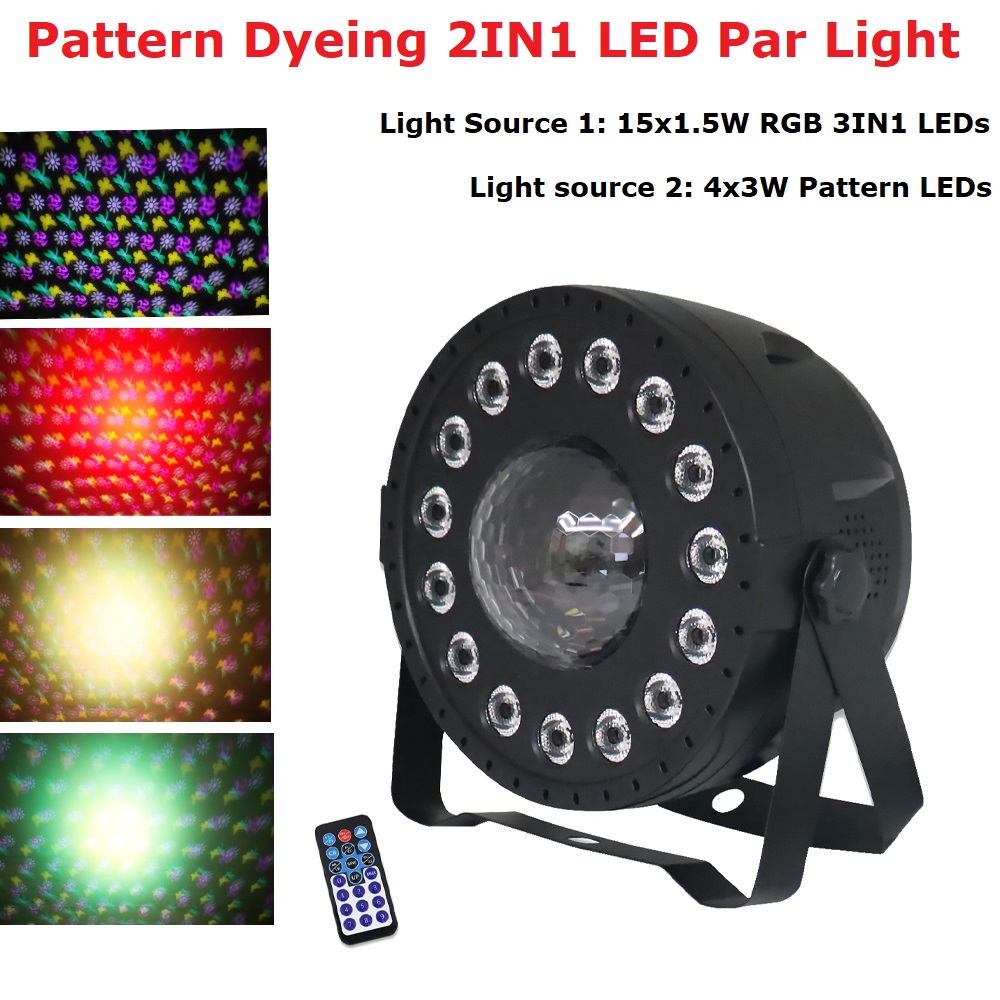 LED Disco Light Stage Lighting Effect 15X1.5W LED Par Light Dj Crystal Magic Ball Lights Christmas Decorations For Home Party Stage Lighting Effect     - title=