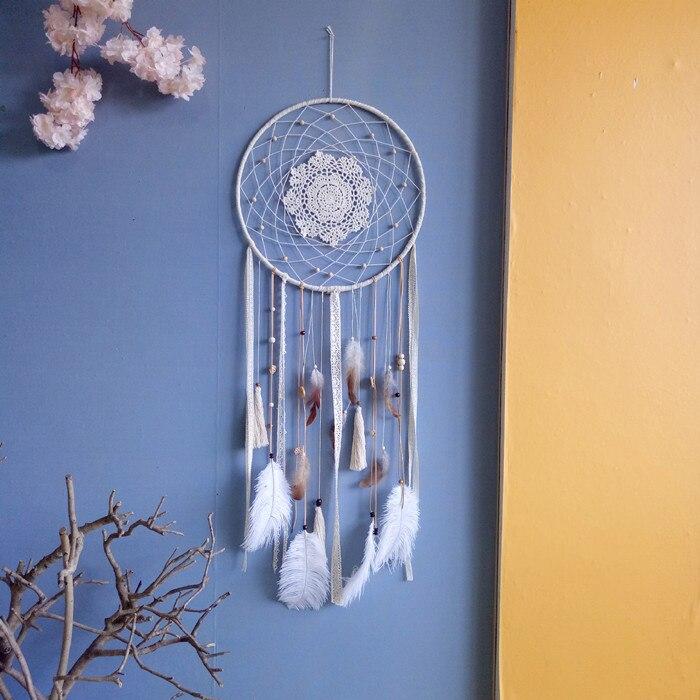 Один кусок ручной работы Ловец снов перо кисточки украшения стены свадебное украшение 40 см X 1,1 м - 2