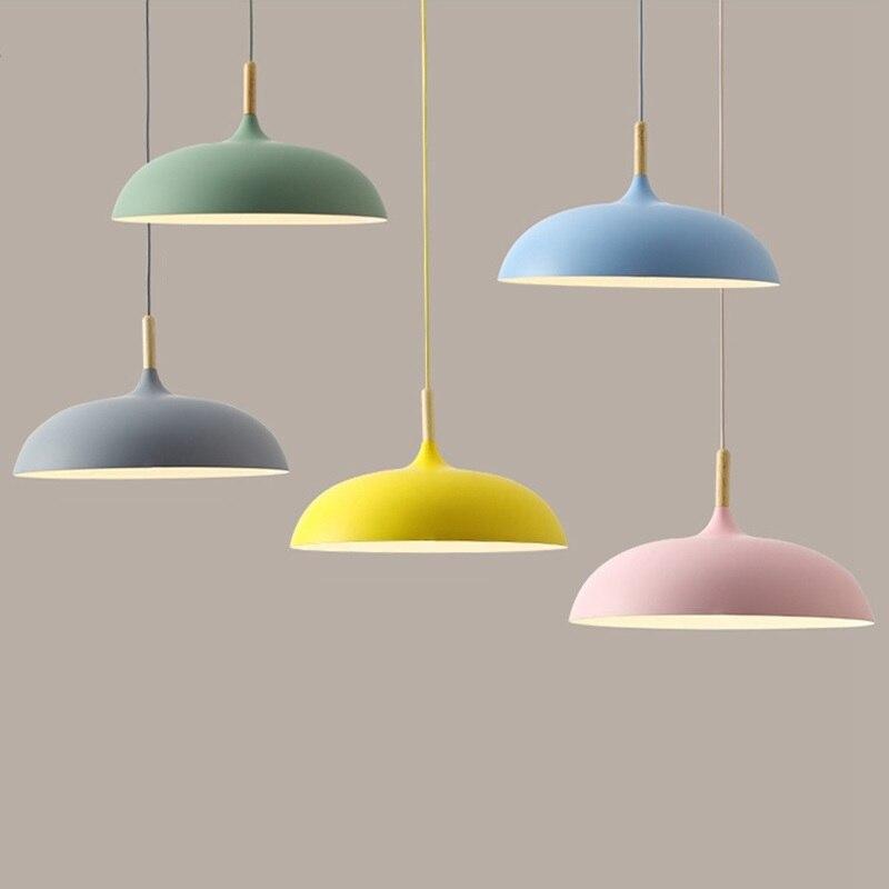 LukLoy Aluminium Pendant Lights Modern Hanging Lamp Pendant Kitchen Lighting Bedside Lamp Led Aluminum Light Lights For Bedroom