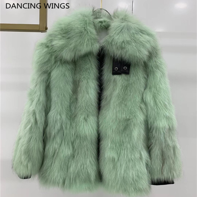 Fashion Jackets Coats Real-Fur Natural Genuine-Leather Women