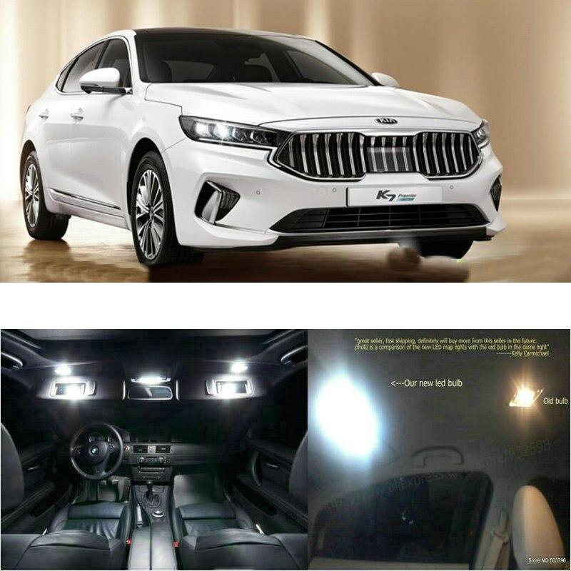 LED Interior Car Lights For Kia K7 Premier Room Dome Map Reading Foot Door Lamp Error Free 5pc