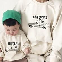 MILANCEL/Новая Осенняя семейная одежда в Корейском стиле; одинаковые комплекты для семьи; повседневная одежда для мамы и меня
