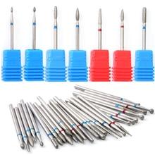 1 шт. алмазные вращающиеся сверла для ногтей Резак для кутикулы для маникюра пилки для ногтей Электрический фрезерный шлифовальный станок Инструменты BE01-29