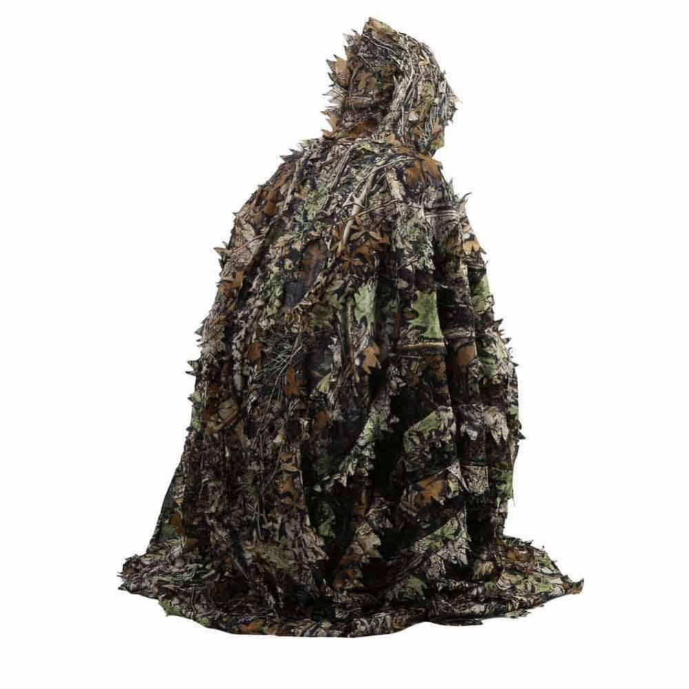 屋外 3D 葉迷彩ポンチョ迷彩岬マントステルススーツ軍事狩猟ポンチョカバー迷彩ポンチョ