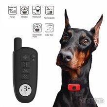 Verbeterde Dog Training Collar Oplaadbare Elektrische Schok Trillingen Geluid Voor Kleine Grote Honden IP67 Bark Kraag Training Honden