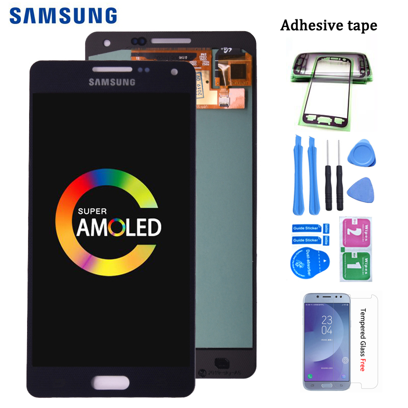 Original Super Amoled For <font><b>Samsung</b></font> Galaxy A5 2015 <font><b>A500</b></font> A500F A500M A500Y A500FQ <font><b>LCD</b></font> Display and Touch Screen Digitizer Assembly image