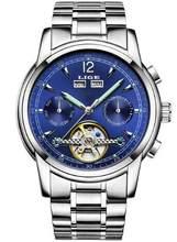 LIGE 9803 Neue Herren Uhren Marke Luxus Automatische Mechanische Uhr Männer Voller Stahl Business Wasserdichte Sport Uhren