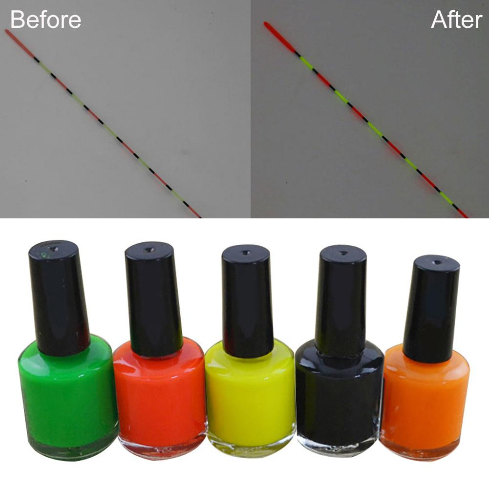 7ml Fishing Floats DIY Fluorescent Liquid Repair Paint Floats Tail Painting Indicator Visualable Buoy Repairment Tool Tackle