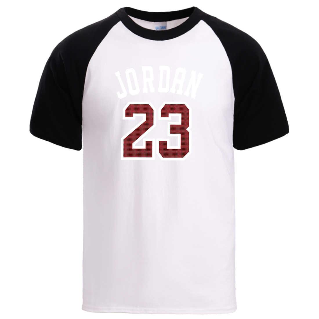 Jordan 23 camisas dos homens t verão manga curta raglan tshirts streetwear para homem 2020 moda de alta qualidade algodão t camisa solta