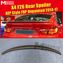 X4 F26 Trunk Spoiler AEP Style FRP Unpainted Wings Fit For BMW X-series Primer Black Rear 2014-2017