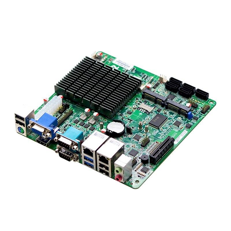 J1900 processor dual lan monitor mainboard Support 4 Bay NAS fanless Mini ITX Motherboard