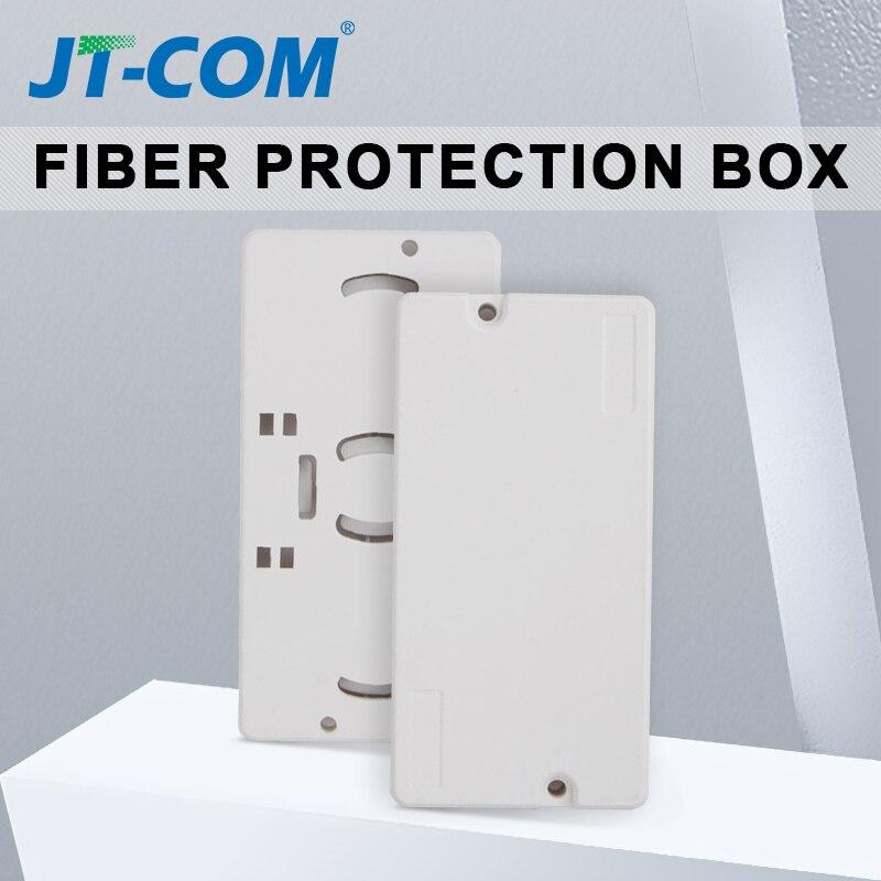 10PCS 2Core Fiber Optic Drop cable protection box 2 into 2 out FTTH Fiber Optic Protection Box to protect fiber splice tray