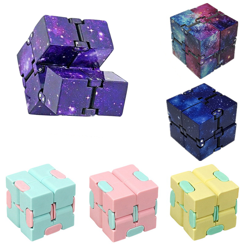 Toy Infinity-Cube Stress Finger EDC Relief-Cube-Blocks Anxiety Ul for Adult Kids Funny