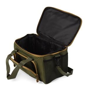 Image 3 - Lixada Men Fishing Bag Canvas Multifunctional Outdoor Waist Shoulder Bag Fishing Reel Lures Storage Bag Fishing Gear 37*25*25cm