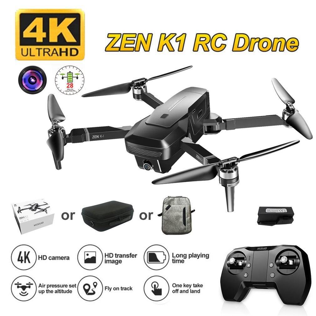 Visuo ZEN K1 GPS RC Drone Met 4K HD Dual Camera Gesture Control 5G Wifi FPV Borstelloze Motor Vlucht 28 Minuten Dron VS F11 B4W