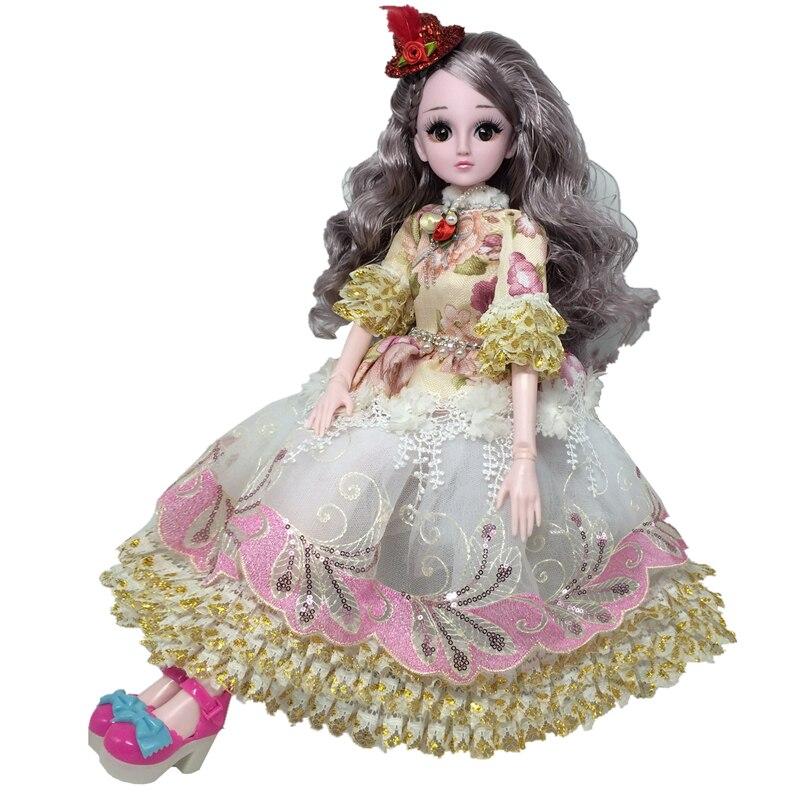Nouvelle poupée BJD 60cm avec accessoires de vêtements de princesse 21  poupées articulées mobiles robe de soirée jouets pour filles cadeau
